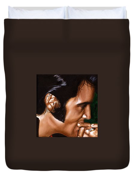 Elvis 24 1969 Duvet Cover by Rob De Vries