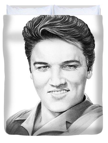 Elvis Aaron Presley Duvet Cover by Murphy Elliott