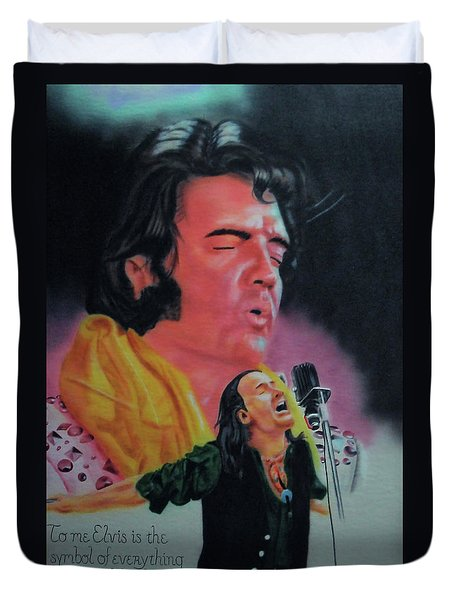 Elvis And Jon Duvet Cover