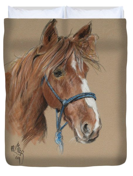 Elvis At The Morgan Horse Ranch Of Prns Duvet Cover