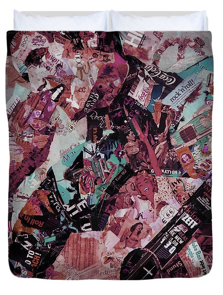 Elvis Presley Collage Art 01 Duvet Cover by Gull G