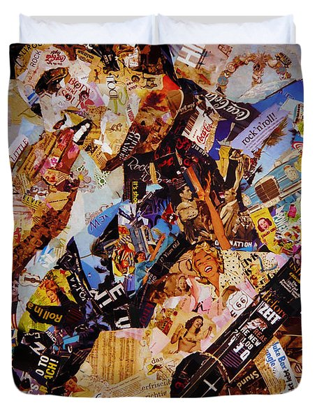 Elvis Presley Collage Art  Duvet Cover by Gull G