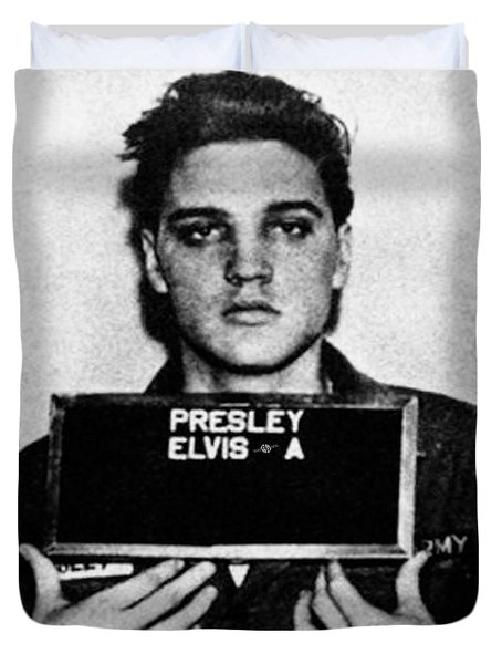 Elvis Presley Mug Shot Vertical 1 Wide 16 By 20 Duvet Cover