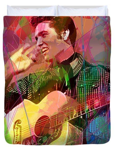 Elvis Rockabilly  Duvet Cover
