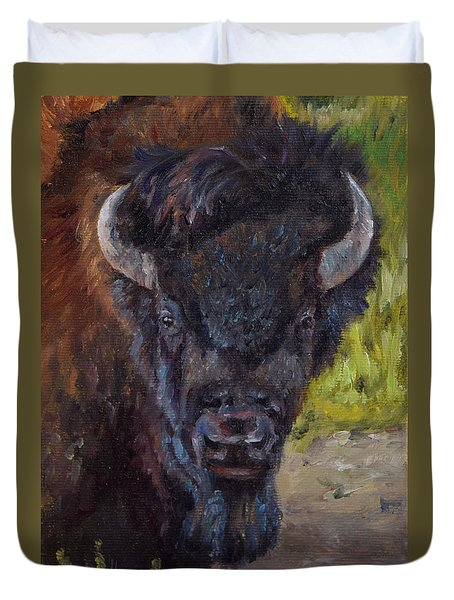 Elvis The Bison Duvet Cover