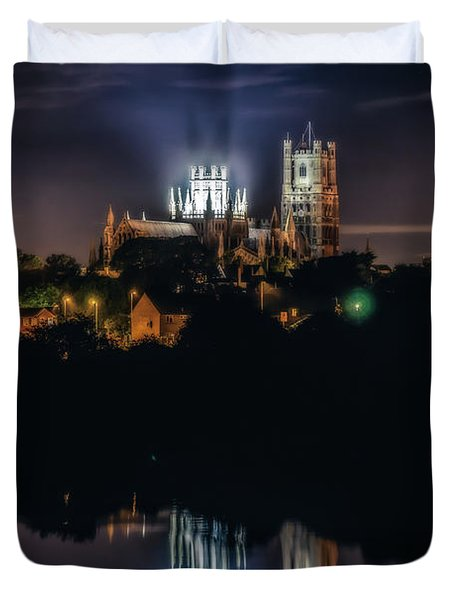Ely Cathedral By Night Duvet Cover