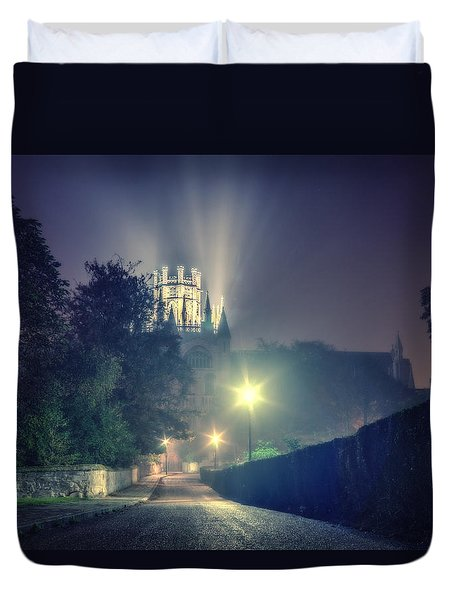 Duvet Cover featuring the photograph Ely Cathedral - Night by James Billings