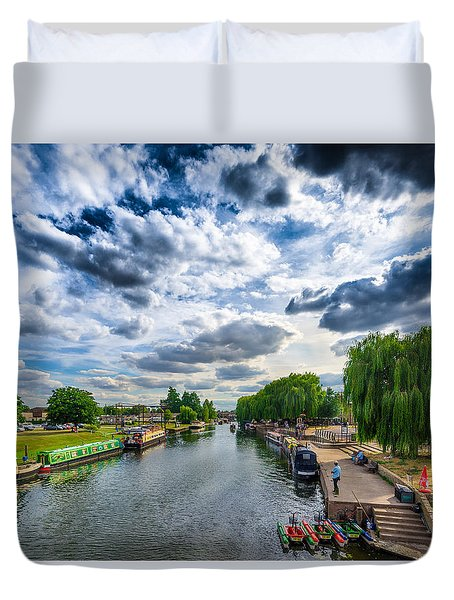 Duvet Cover featuring the photograph Ely Riverside by James Billings