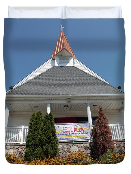 Emanuel Lutheran Church  Patchogue Ny Duvet Cover