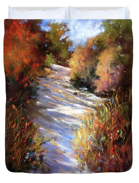 Embankment And Shadows Duvet Cover by Rae Andrews