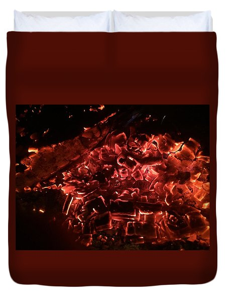 Embers On The Bay Duvet Cover