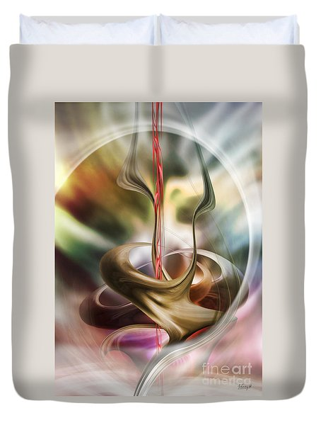 Embrace In Pastel Duvet Cover by Johnny Hildingsson