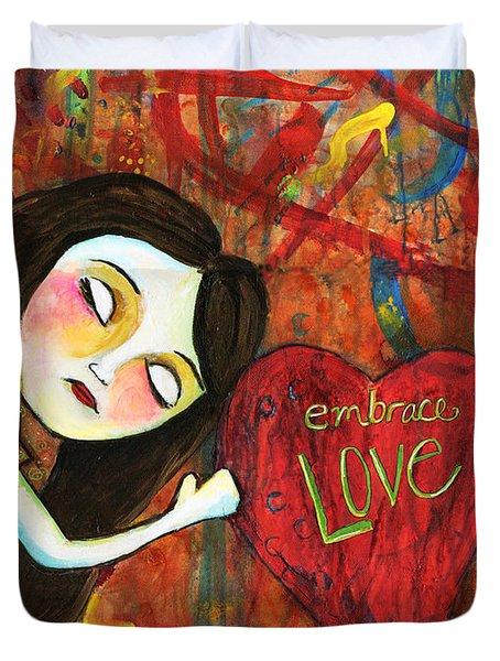 Embrace Love Duvet Cover