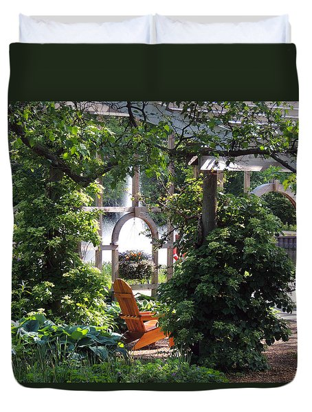 Embrace Spring Duvet Cover by Teresa Schomig