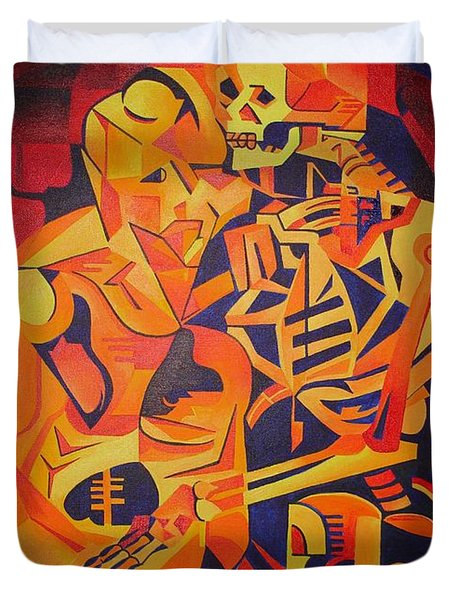 Embracing Death Duvet Cover by Tracey Harrington-Simpson