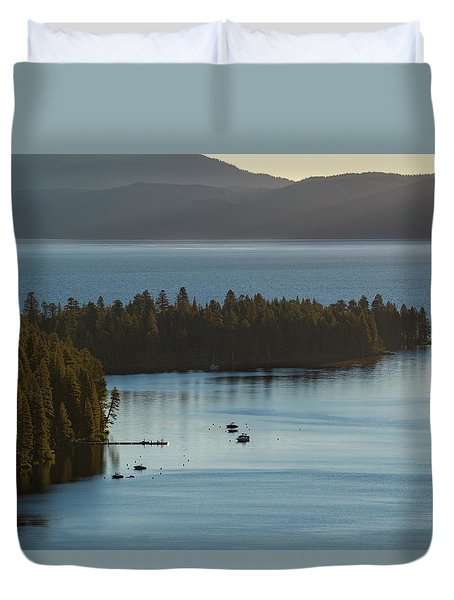 Emerald Bay Channel Duvet Cover