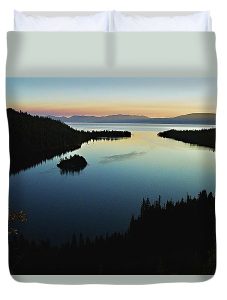 Emerald Bay, Lake Tahoe, Dawn Duvet Cover