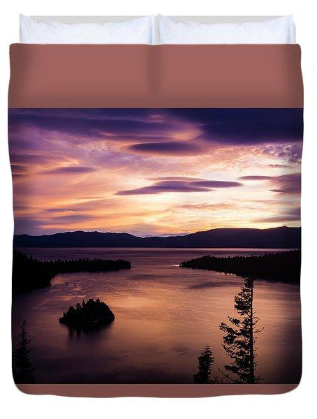 Emerald Bay Sunrise - Lake Tahoe, California Duvet Cover