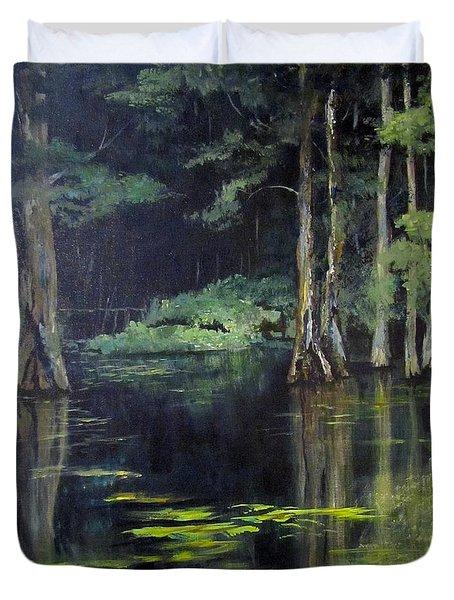 Emerald Bayou Duvet Cover by Barbara O'Toole
