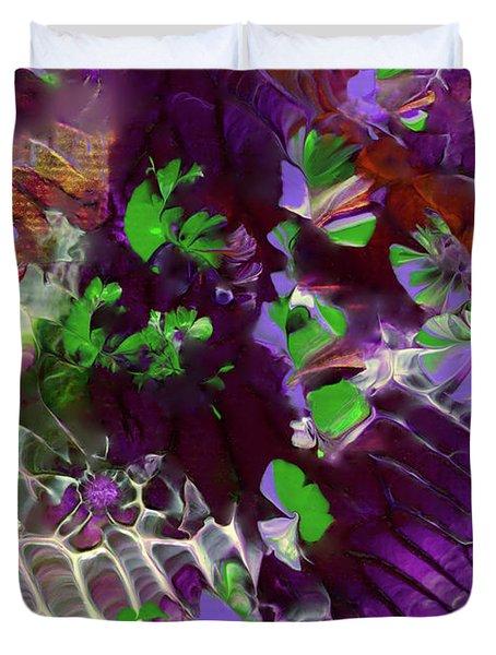 Emerald Butterflies Of Costa Rica Duvet Cover