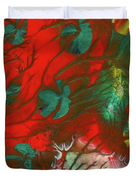 Emerald Butterfly Island Duvet Cover