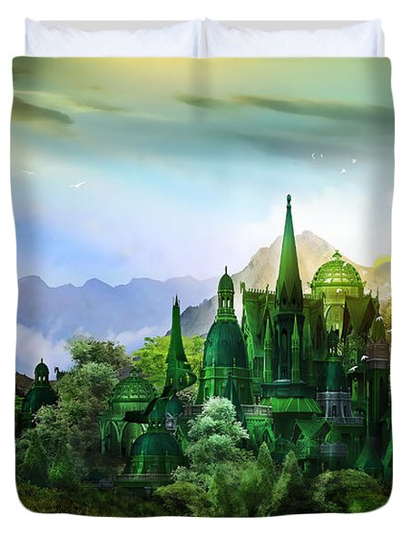 Emerald City Duvet Cover by Mary Hood