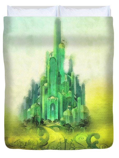 Emerald City Duvet Cover by Mo T