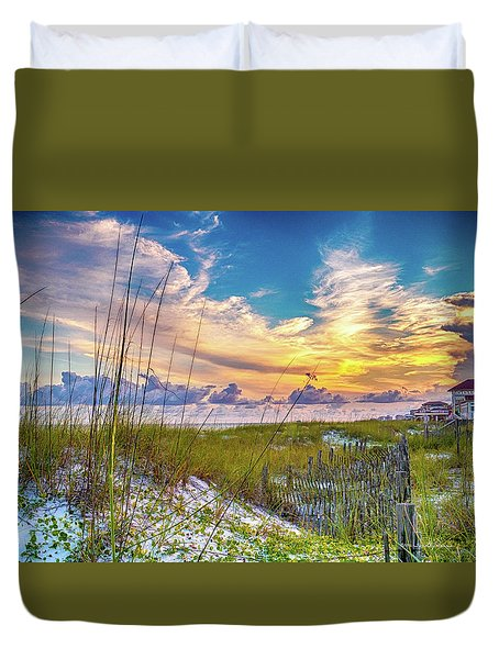 Emerald Coast Sunset Duvet Cover