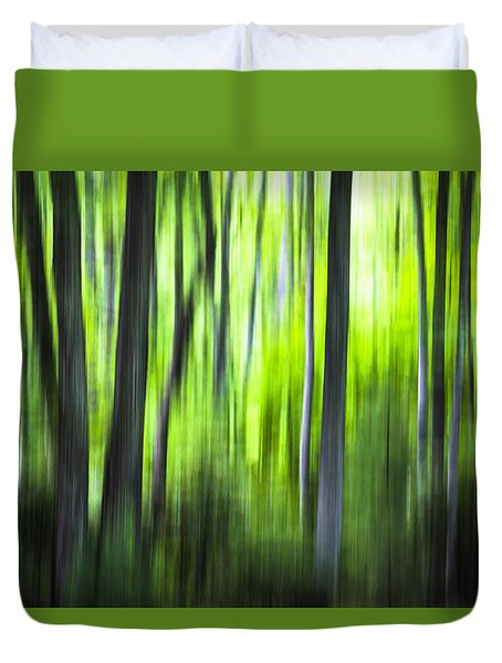 Green Forest - North Carolina Duvet Cover