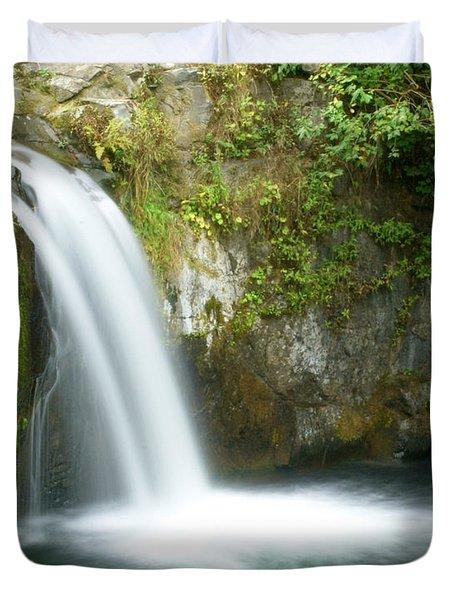 Emerald Falls Duvet Cover by Marty Koch