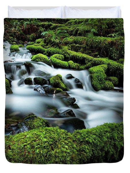Emerald Flow Duvet Cover