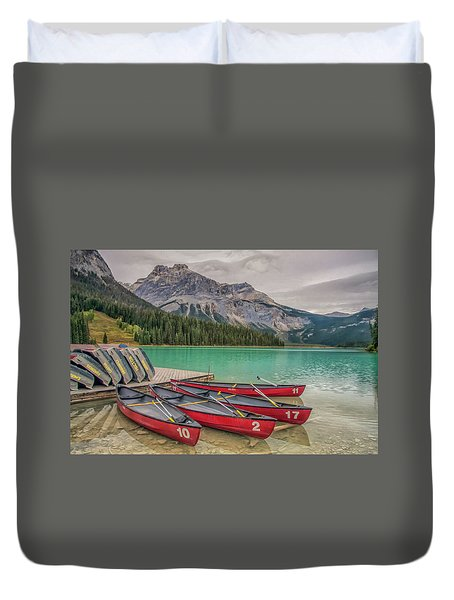 Duvet Cover featuring the photograph Emerald Lake 2009 01 by Jim Dollar