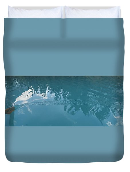 Emerald Lake Glacier Waters Duvet Cover by Angela A Stanton