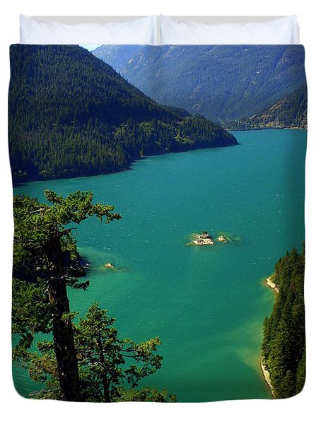 Emerald Lake Duvet Cover by Marty Koch