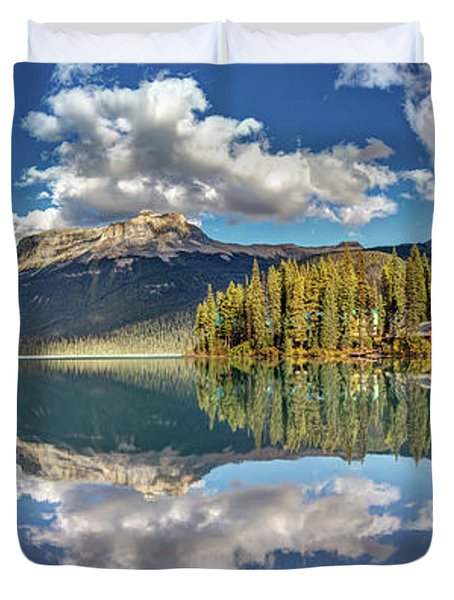 Emerald Lake Panorama Duvet Cover