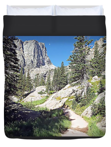 Emerald Lake Trail - Rocky Mountain National Park Duvet Cover by Joseph Hendrix