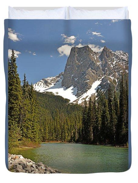 Emerald Lake Vista Duvet Cover