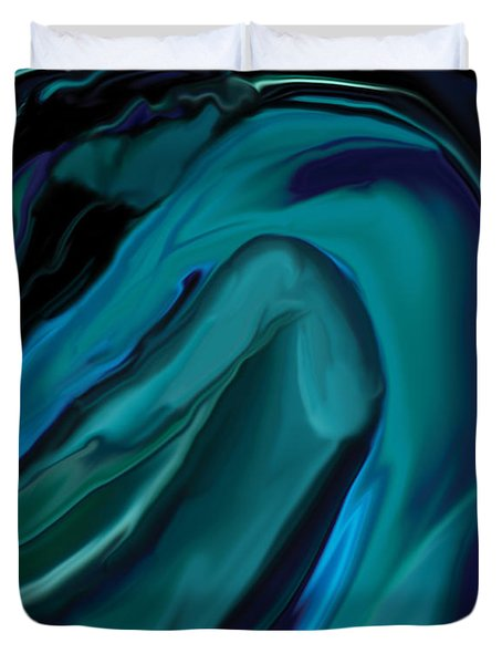 Emerald Love Duvet Cover by Rabi Khan