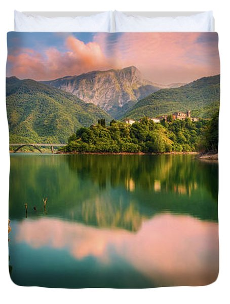 Emerald Mirror Duvet Cover