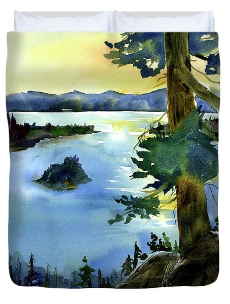 Emerald Morn, Lake Tahoe Duvet Cover
