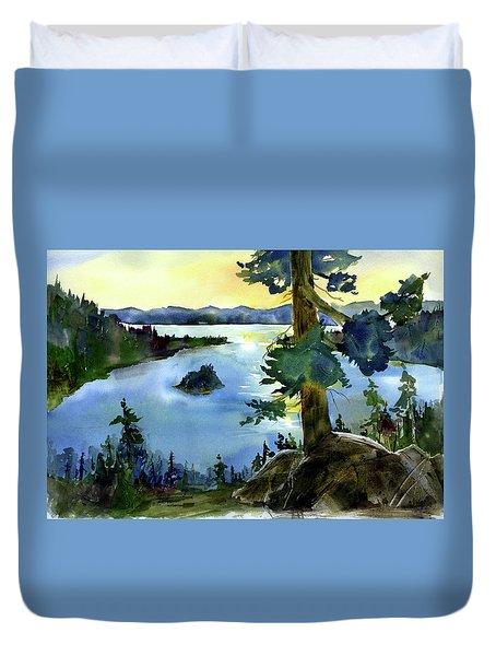 Emerald Morn, Lake Tahoe Duvet Cover