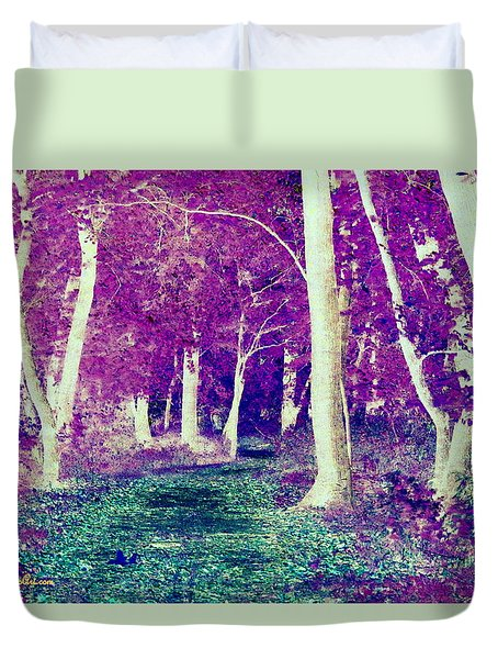 Emerald Path Duvet Cover