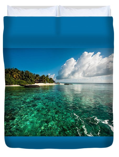 Emerald Purity. Maldives Duvet Cover