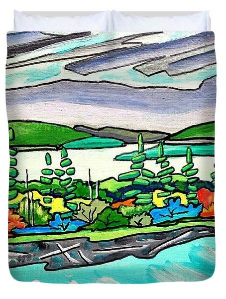 Emerald Sea Islands Duvet Cover