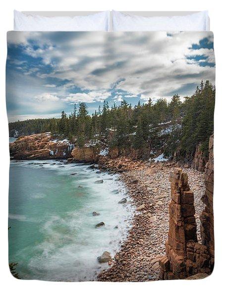 Emerald Shores At Monument Cove Duvet Cover