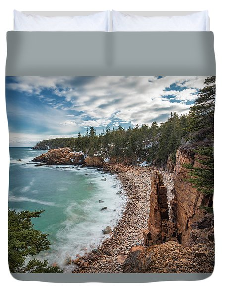 Emerald Shores At Monument Cove Duvet Cover