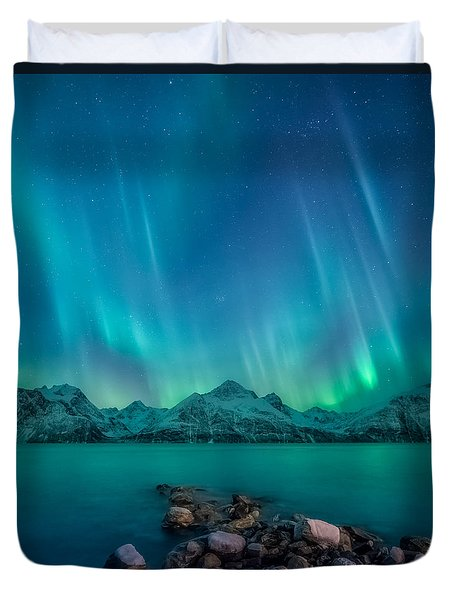 Emerald Sky Duvet Cover
