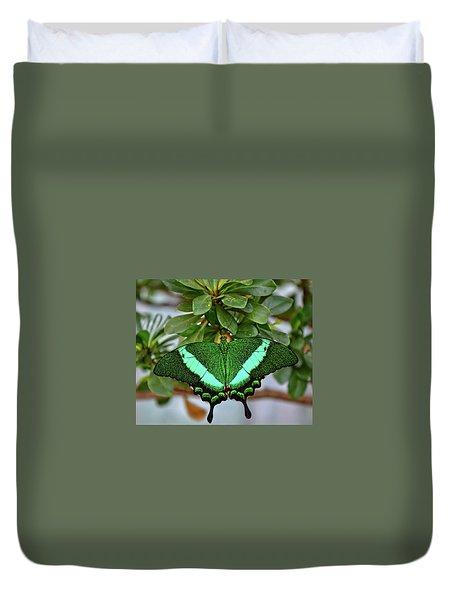 Emerald Swallowtail Butterfly Duvet Cover