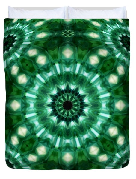 Emerald  Duvet Cover by Thomas  MacPherson Jr
