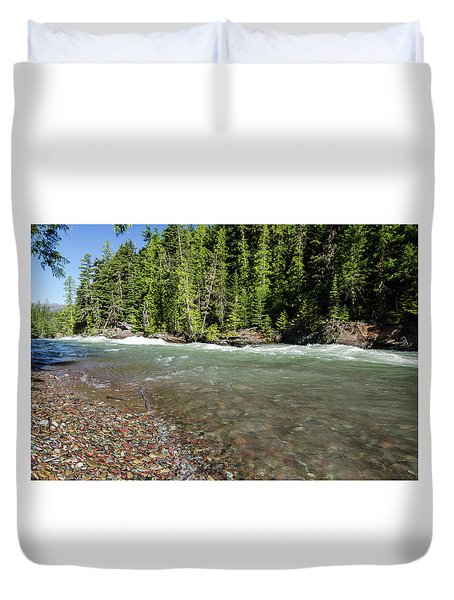 Emerald Waters Flow Duvet Cover